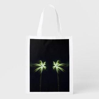 Firework Palm Trees Reusable Bag