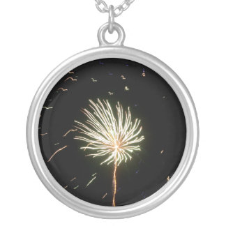Fireworks 1 silver plated necklace