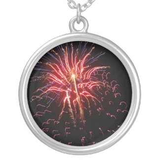 Fireworks 2 silver plated necklace