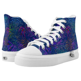 Fireworks 4th of July Colorful Summer Pattern High Tops
