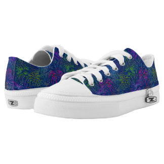 Fireworks 4th of July Colorful Summer Pattern Low-Top Sneakers