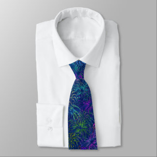 Fireworks 4th of July Colorful Summer Pattern Tie