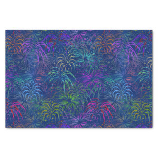 Fireworks 4th of July Colorful Summer Pattern Tissue Paper