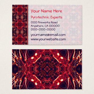 Fireworks Abstract Business Card