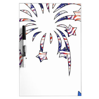 Fireworks America USA National Flag Independence D Dry Erase Whiteboard