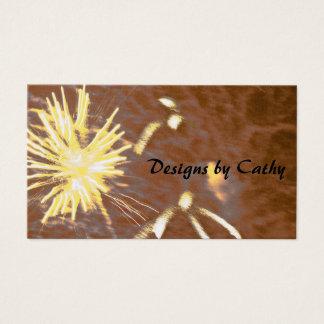 Fireworks art design business cards
