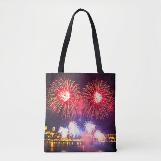Fireworks Art Tote Bag