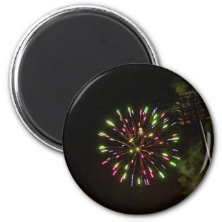 fireworks at night magnet