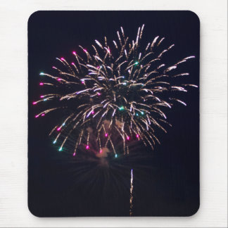 Fireworks at Night Photo Mouse Pad