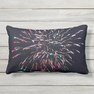 Fireworks at Night Photo Outdoor Pillow