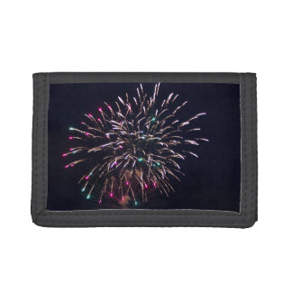 Fireworks at Night Photo Trifold Wallet
