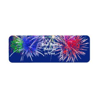 Fireworks Background Return Address Label