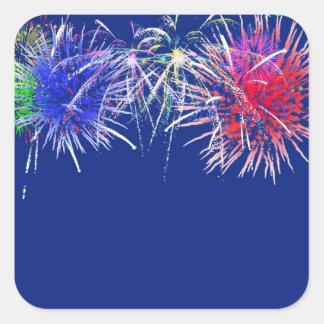 Fireworks Background Square Sticker