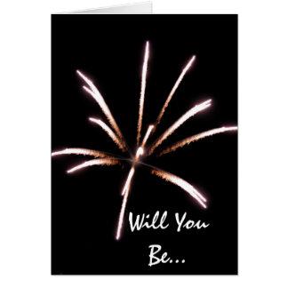 Fireworks Be My Groomsman Invitation Card