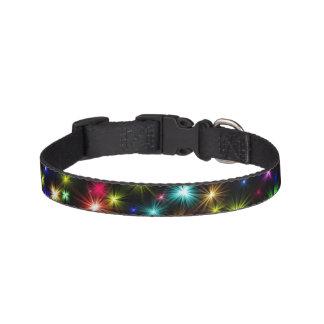 Fireworks black pet holiday collar
