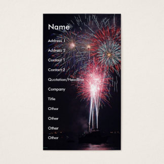 Fireworks Business Card