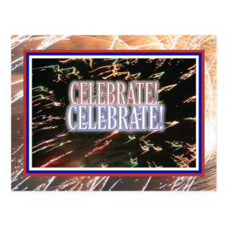 Fireworks Celebrate! Postcard