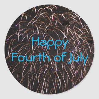 Fireworks Celebration Round Sticker