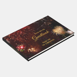 Fireworks (customizable) Guestbook