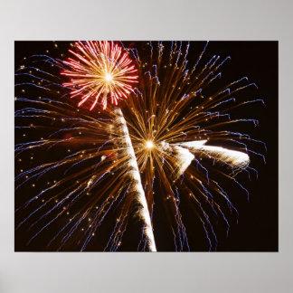 Fireworks display on Savannah River 2 Poster