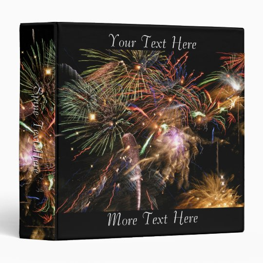 Fireworks Display Vinyl Binder