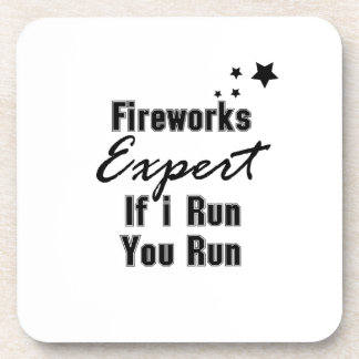 Fireworks Expert Funny 4th of July for Men Women Coaster