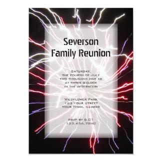 Fireworks Family Reunion Invitation
