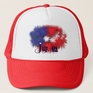 Fireworks Flag Trucker Hat