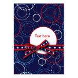 Fireworks Gift Tag Business Card Template