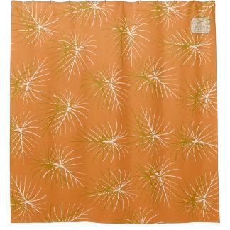 Fireworks Gold Orange Modern Shower Curtain Set