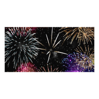 Fireworks Grande Finale Custom Photo Card