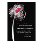Fireworks & Hearts Tree Reheasal Dinner Invitation