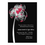 "Fireworks & Hearts Tree Reheasal Dinner Invitation 5"" X 7"" Invitation Card"