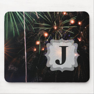 Fireworks II with Custom Initial Mouse Pad