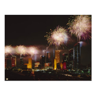 Fireworks in Houston Texas Postcard