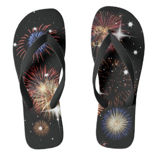 Fireworks Independence Day Flip Flops