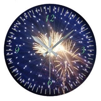 Fireworks!!! Large Clock