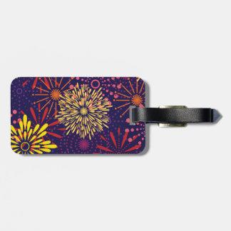 Fireworks Luggage Tag