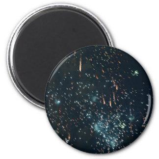 fireworks meteor splash aqua 2 inch round magnet