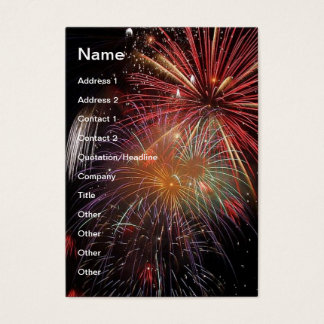 FIREWORKS Nighttime Colorful Explosions! Business Card