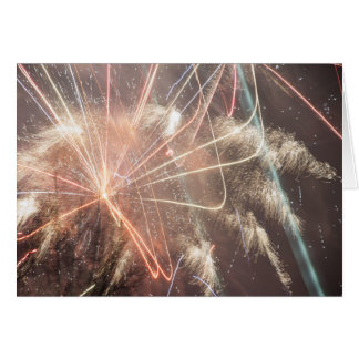 Fireworks on New Years Eve Card