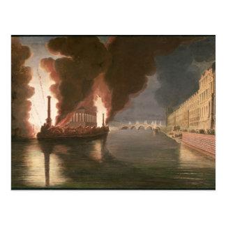 Fireworks on the Seine Postcard
