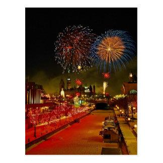 Fireworks, Ottawa, Ontario, Canada Postcard