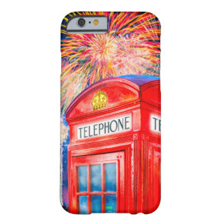 Fireworks Over A British Phone Booth Barely There iPhone 6 Case