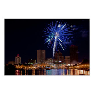 Fireworks Over Rochester Poster