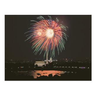 Fireworks over Washington DC Postcard