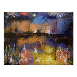 Fireworks Painting Postcard