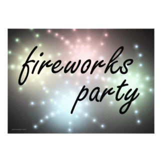 Fireworks Party Invitations