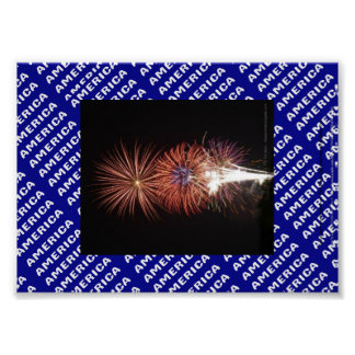 Fireworks Patriotic poster