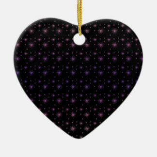 Fireworks Pattern Ceramic Heart Ornament